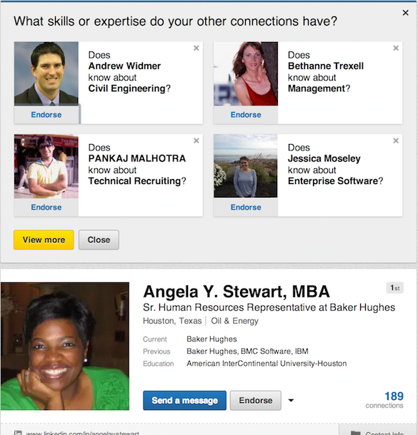 how to give endorsement on linkedin